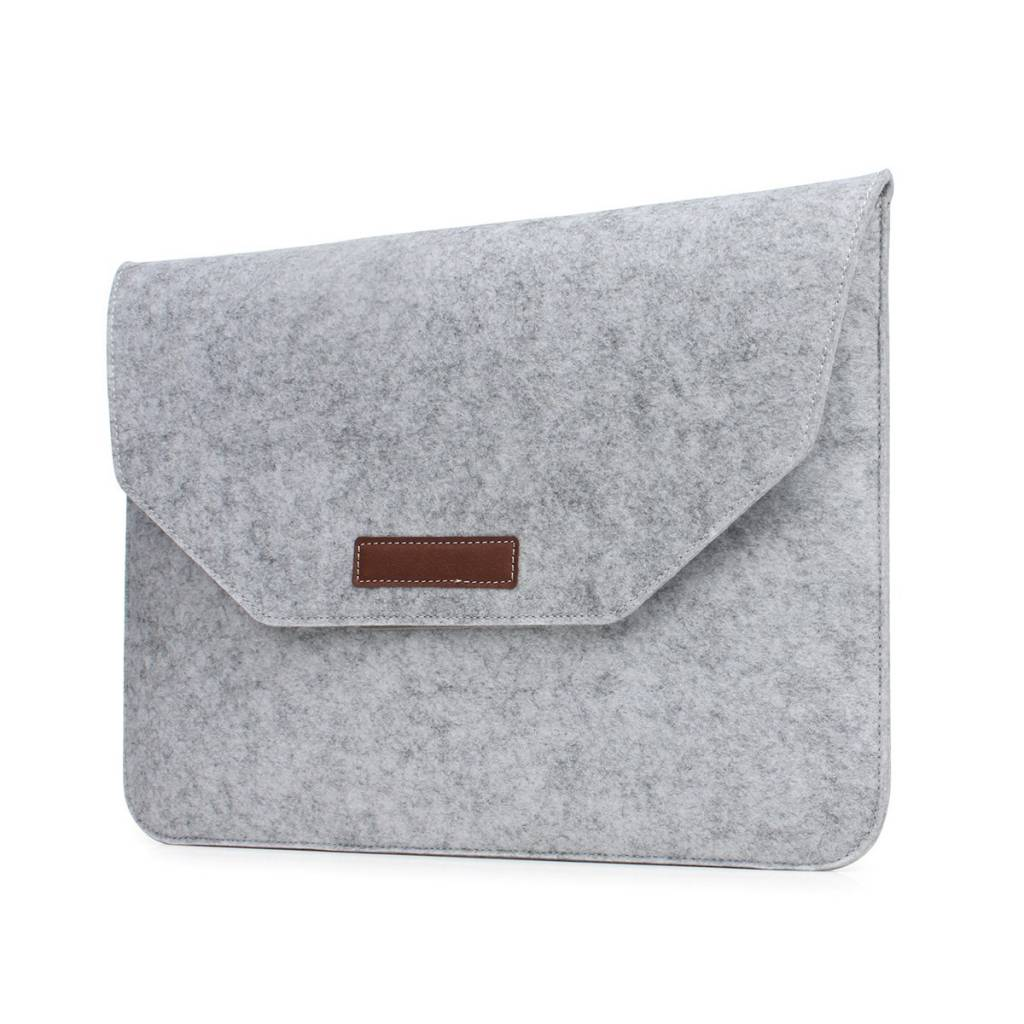15 inch Macbook en Laptop Soft Sleeve Case Grijs
