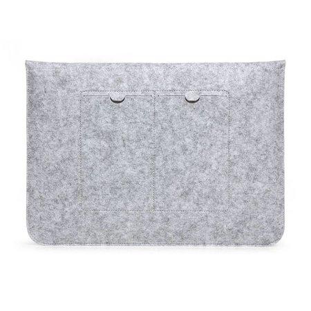 Geeek 15 inch Macbook en Laptop Soft Sleeve Case Grijs