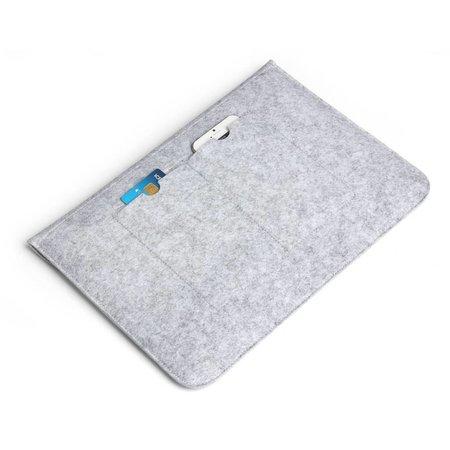 Geeek 15 inch MacBook Laptop Soft Sleeve Case Grey