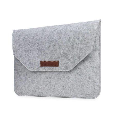 Geeek 13 inch MacBook Laptop Soft Sleeve Case Grey