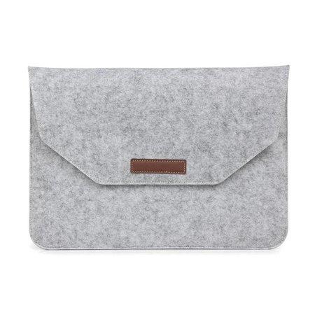 Geeek 13 inch Macbook en Laptop Soft Sleeve Case Grijs