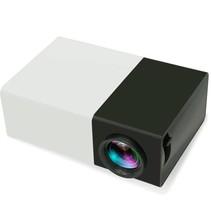 Beweglicher LED-Projektor Beamer Schwarz Weiß FullHD