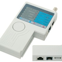 Netwerk Kabeltester LAN RJ-45 USB BNC Coax Telefoon RJ-11