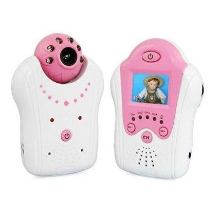 Geeek Compact Babyfoon Baby Monitor met Camera Roze
