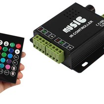 Audio IN Muziek Led IR Controller Afstandsbediening RGB Duo