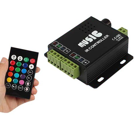 Geeek Audio IN Muziek Led IR Controller Afstandsbediening RGB Duo