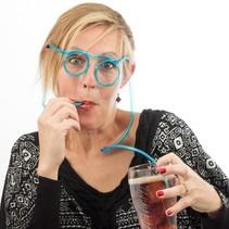 Trinkgläser Stroh Strohhalm Brille