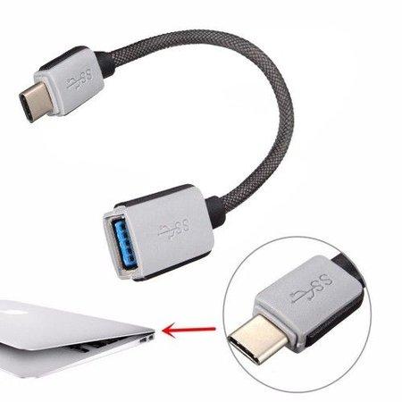 Geeek USB-C Kabel 0,20 meter Adapterkabel USB-C Male / USB-A Female Heavy Duty Nylon