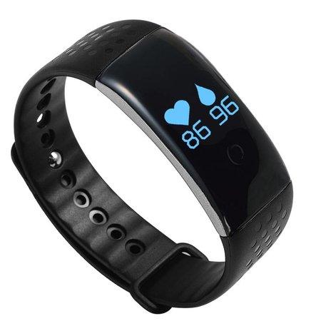 Geeek Smart Fitness Band Stappenteller Hartmonitor Bloedzuurstof monitor Silicone