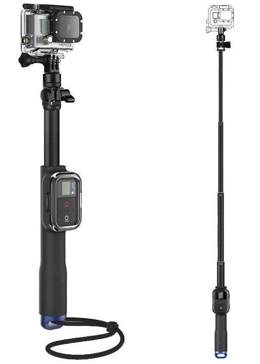 Extra Lange Selfie Stick met Remote Houder voor GoPro