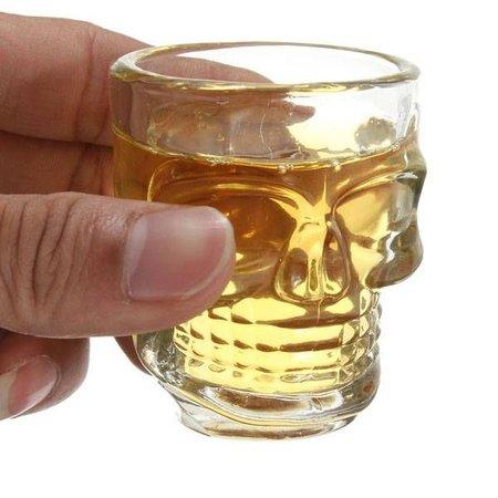 Geeek Crystal Head Shot Glass Skull Skelet Glas 4 Stuks