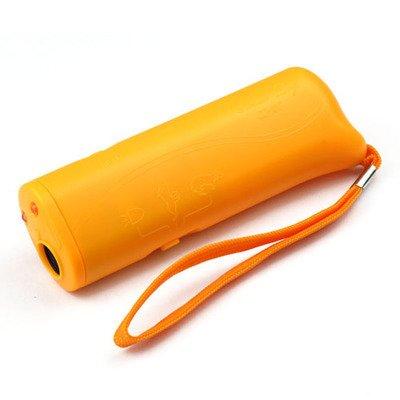 Ultrasone Hondentrainer / Hondenverjager LED verlichting Geel