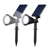 Geeek Solar Spotlight Led Tuinverlichting 2 Stuks