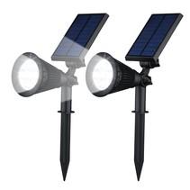 Solar-Gartenleuchten LED 2 Stücke Spotlight