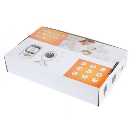 Geeek Draadloze HD Babyfoon Baby Monitor met Temperatuurmeter