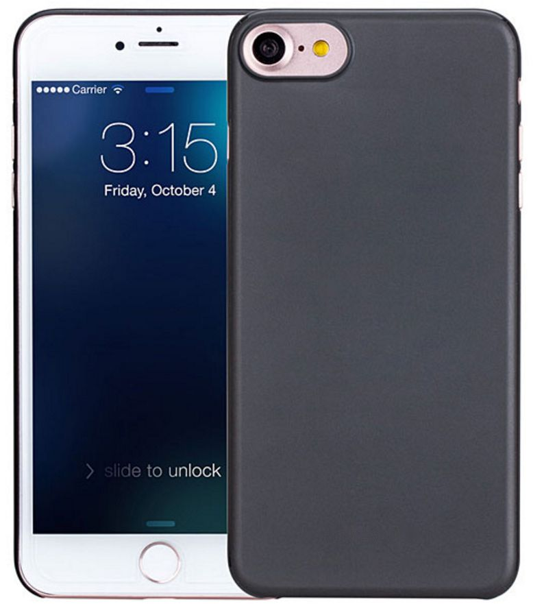 iPhone 7 / iPhone 8 Ultra Dun Hoesje Case Cover Zwart 0.3mm