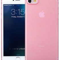 iPhone 7 / iPhone 8 Ultra Dun Hoesje Case Cover Roze Pink 0.3mm
