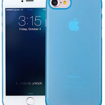 iPhone 7 / iPhone 8 Ultra Dun Hoesje Case Cover Blauw 0.3mm