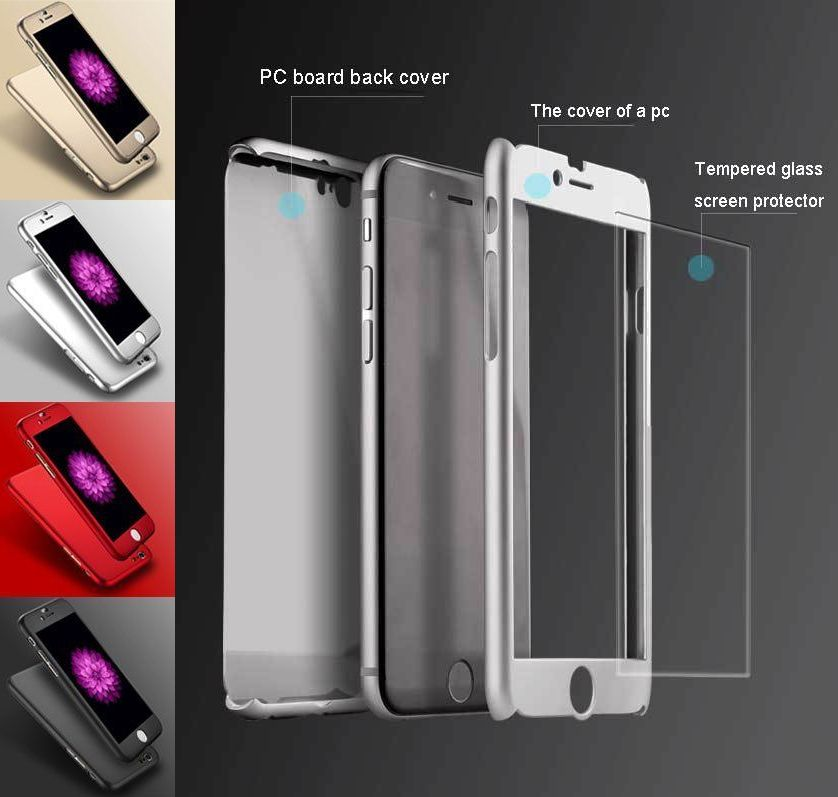 best sneakers 98c47 5d476 Geeek iPhone 7 Plus / iPhone 8 Plus Full Body 360 Super Thin Case Cover Case