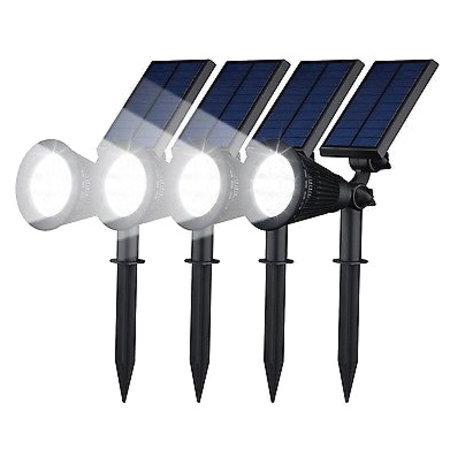 Geeek Scheinwerfer Solar-LED-Gartenleuchte 4 Stück