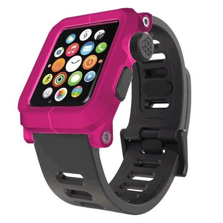 LunaTik EPIK Polycarbonate Case met Silicone Band Apple Watch 42mm Pink Roze