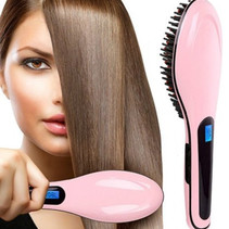 Brush Style Perfect Hair Straightener Brush HQT-906