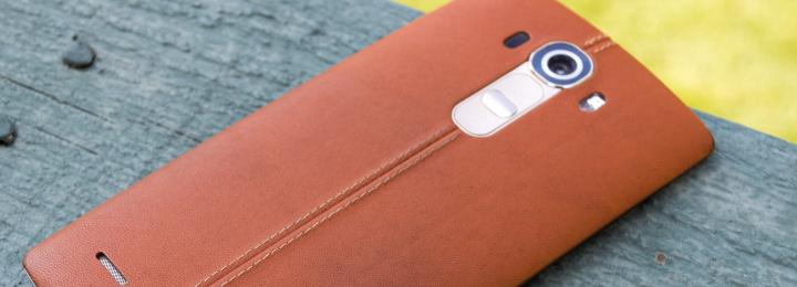 LG G4 met lederen achterkant
