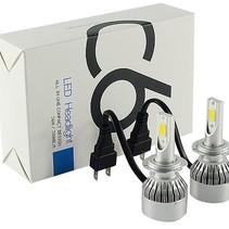 LED Head Lamp Headlight Xenon H7 6000K Set