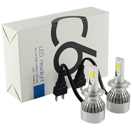 Geeek LED Head Lamp H4 Xenon Headlight Set 6000K