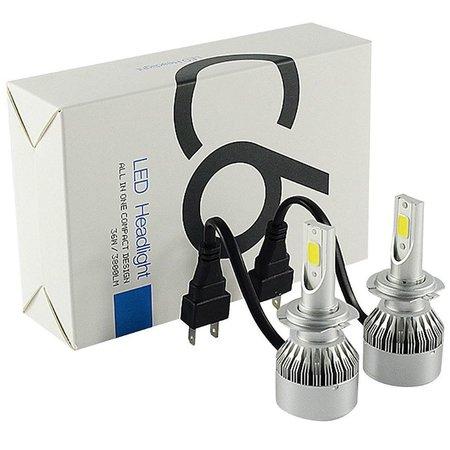 Geeek LED Kopflampe H4 Xenon Scheinwerfer Set 6000K