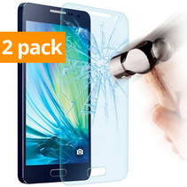 Sterke Tempered Gehard Glazen Glass Screenprotector Galaxy A5 (2 pack)