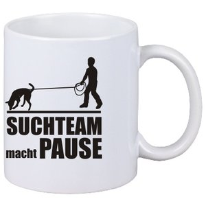 """Tasse """" Suchteam macht Pause"""""""