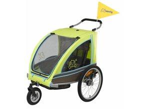 Vantly Eco Fietskar met wandelset Lime Groen