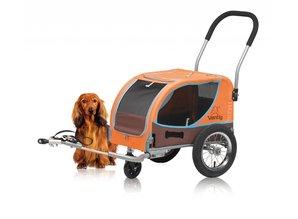 Vantly Mini Doggy trailer met wandelset