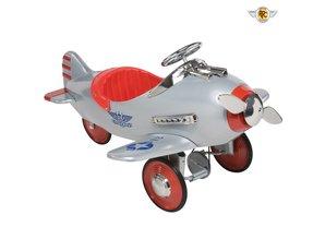 Airflow Collectables Silver Pursuit Pedal Plane