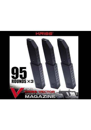 Krytac Magazine Kriss Vector Midcap 95rds 3-pack