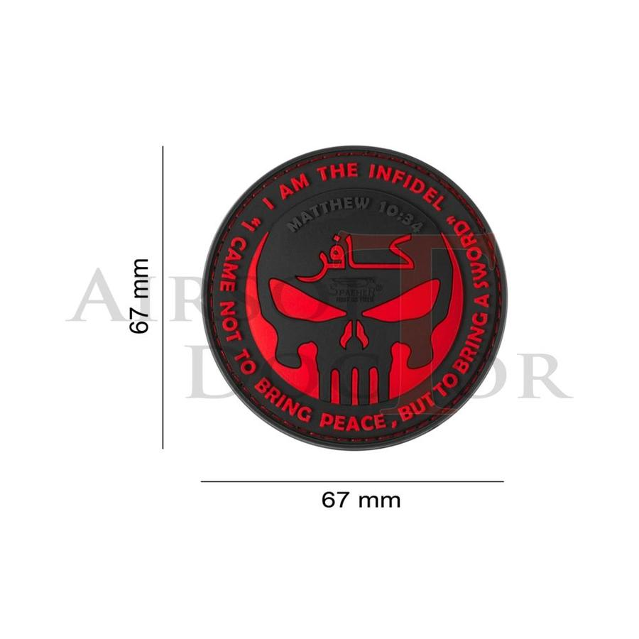 The Infidel Punisher Rubber Patch - Red-2