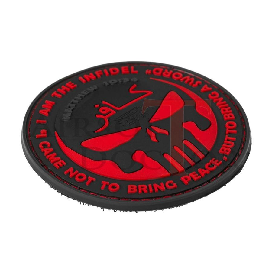 The Infidel Punisher Rubber Patch - Red-3