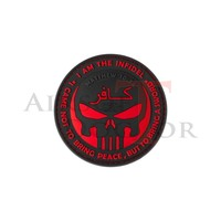 thumb-The Infidel Punisher Rubber Patch - Red-1