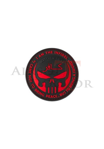 The Infidel Punisher Rubber Patch - Red