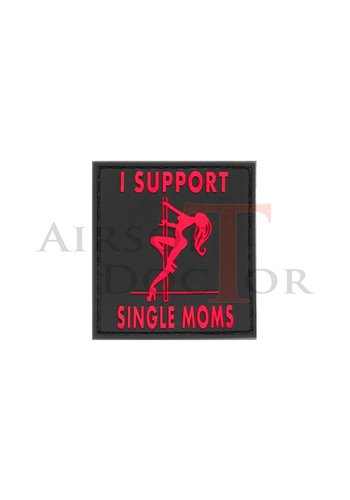 I Support Single Mums Rubber Patch - Red