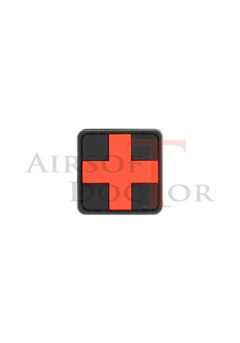 Red Cross Rubber Patch 25mm