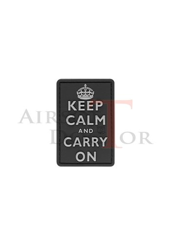 Keep Calm Rubber Patch - Black