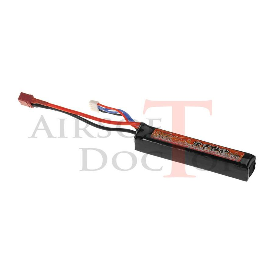 11.1V 1100mAh 20C Stock Tube - Dean-1