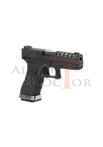 Armorer Works Custom VX0101 Hex-Cut Metal Version GBB - Black