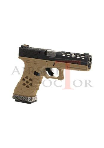 Armorer Works Custom VX0101 Hex-Cut Metal Version GBB - Tan