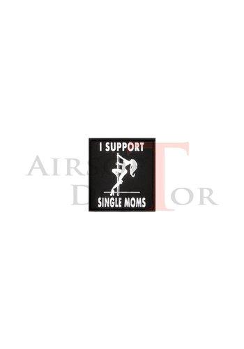 I Support Single Moms Patch - Black