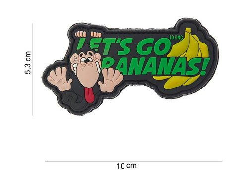 101Inc. Patch Let's Go Bananas