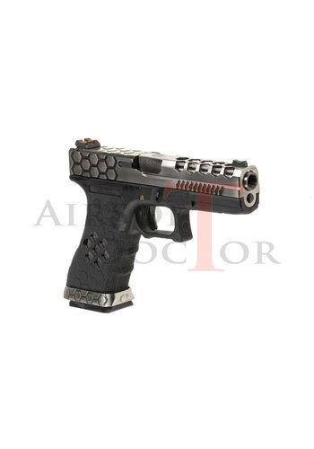 Armorer Works Custom VX0100 Hex-Cut Metal Version GBB  - Grey