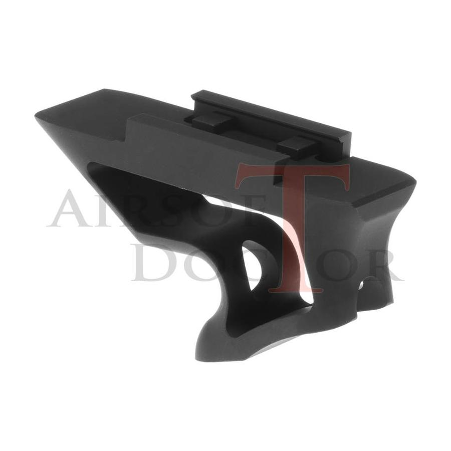 CNC Picatinny Short Angled Grip - Black-2